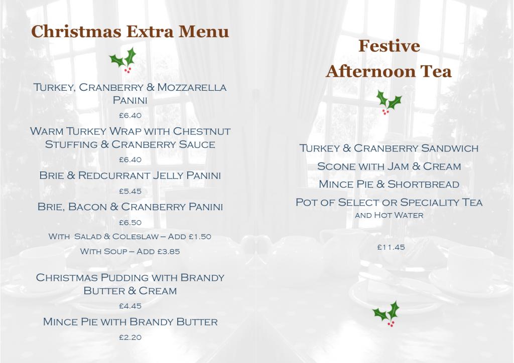 Christmas Treats and Festive Afternoon Tea Menu 2019
