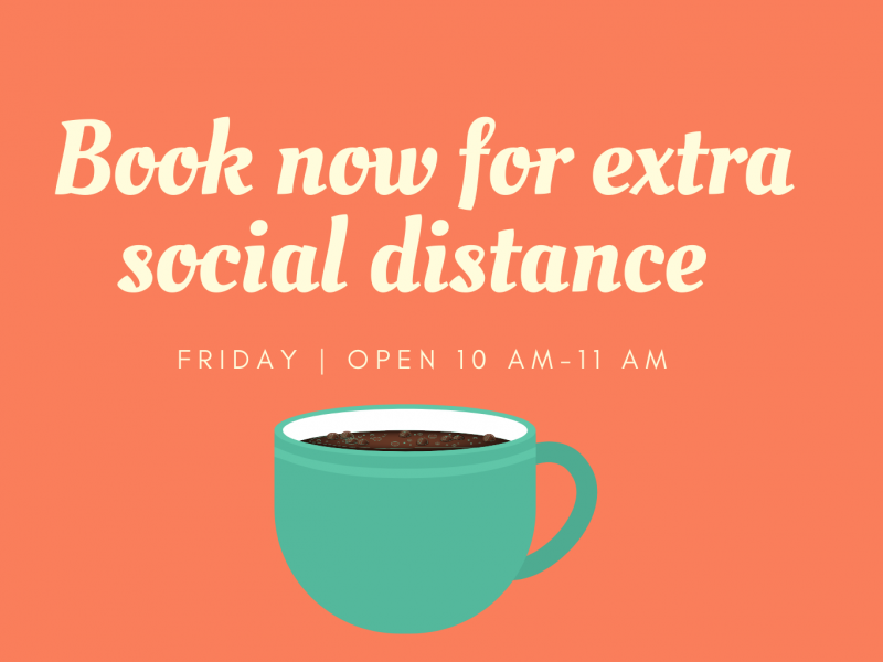 book now for extra social distance