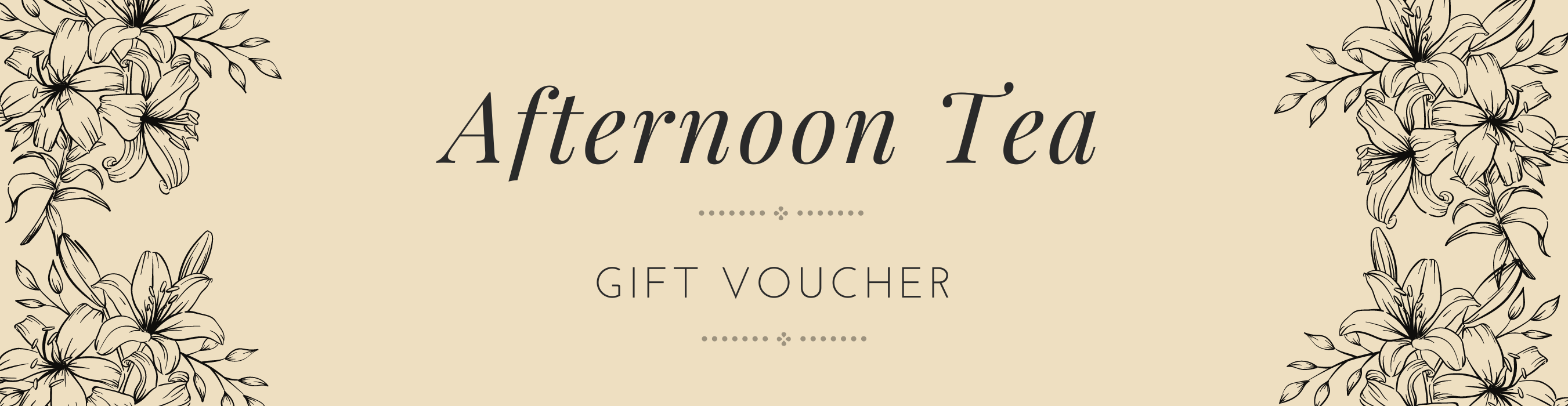 Afternoon Tea gift voucher header