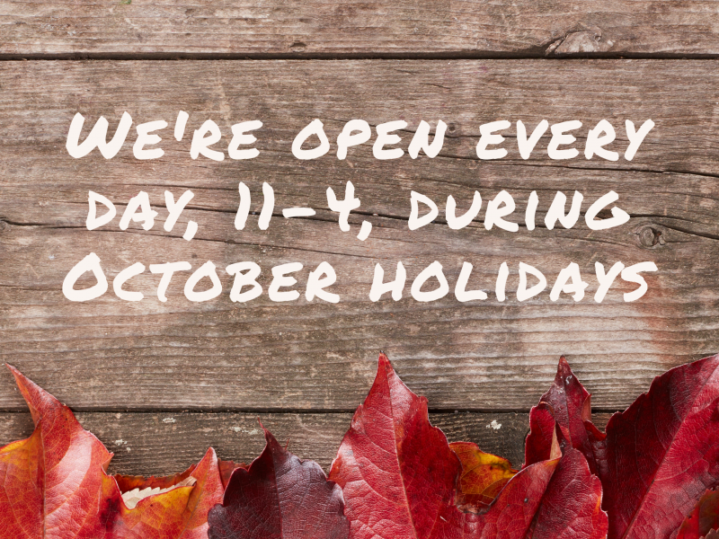 October holiday opening hours covid